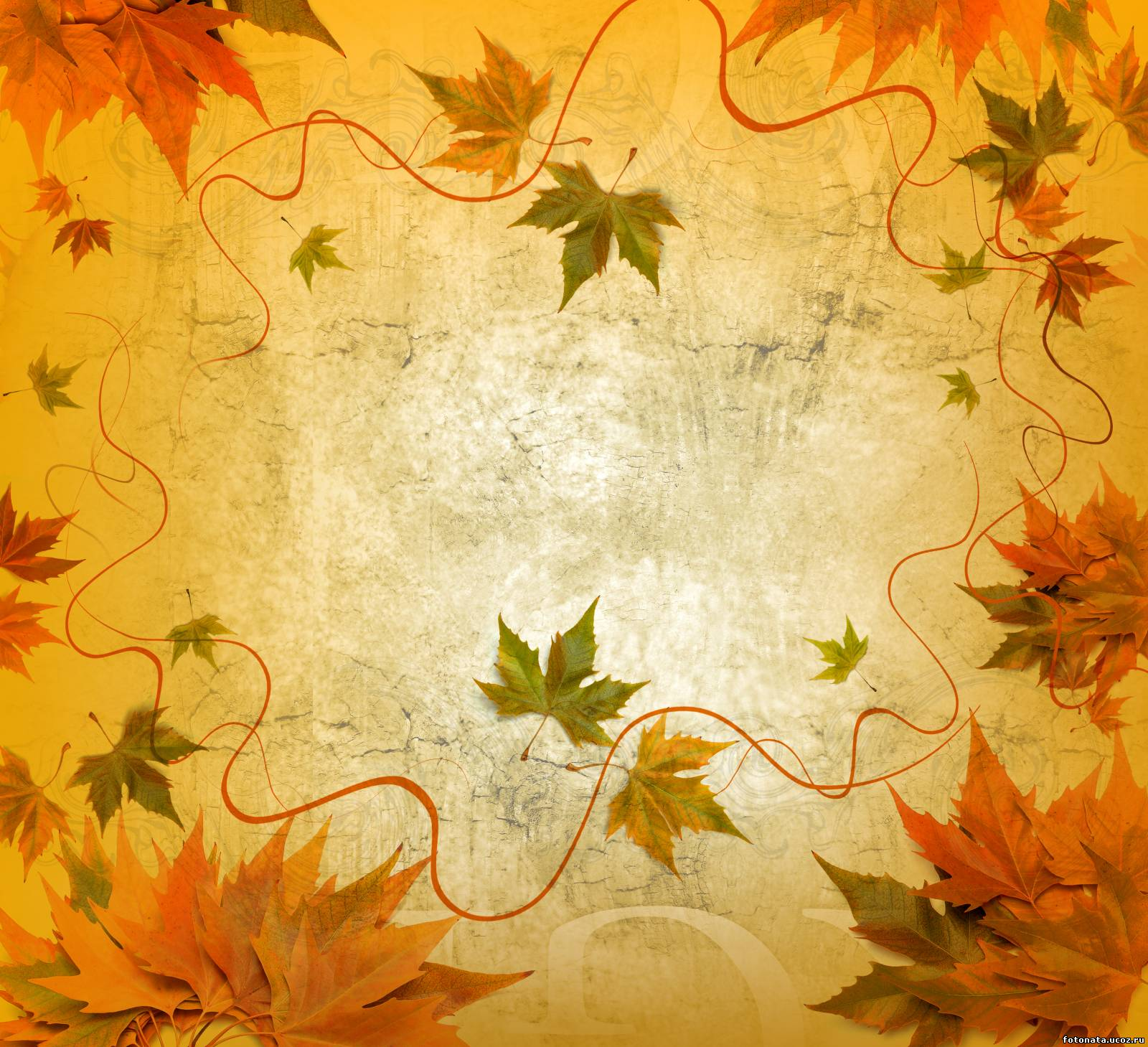 Фон осень открытка